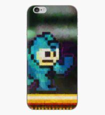 Mega Man retro painted pixel art iPhone Case