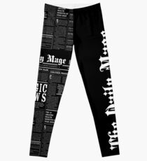 The Daily Mage Fantasy Newspaper II Leggings