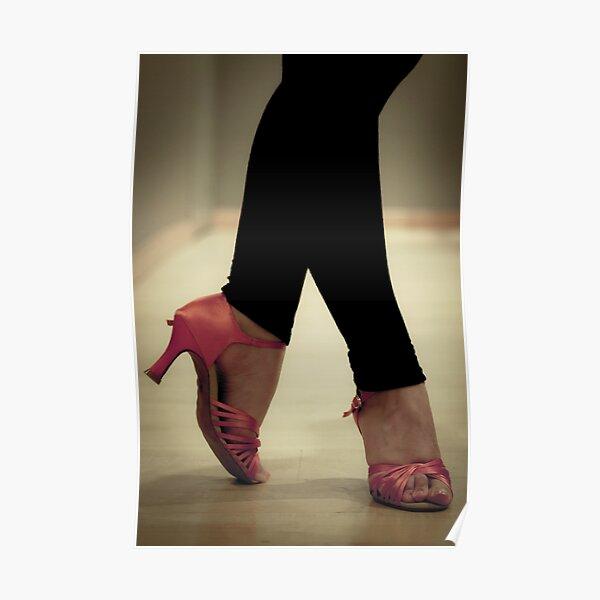 Salsa dance shoes. Women. Poster