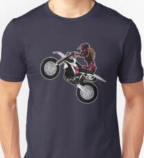 Dirt Biking Motocross Supercross Design Womens Unisex T-Shirt