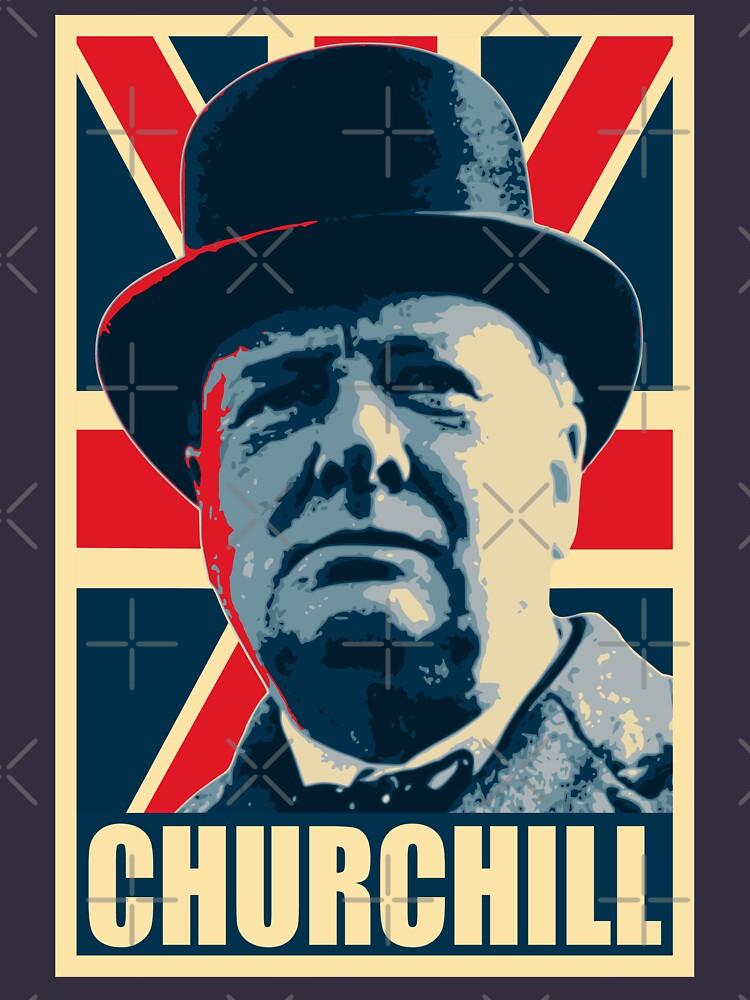 Winston Churhill Union Jack Propaganda Pop Art von idaspark