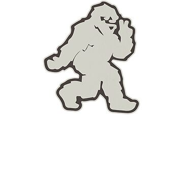 Funny Bigfoot doing Peace Sign Yeti Sasquatch by Zkoorey