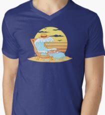 WAVE ON THE BEACH Men's V-Neck T-Shirt