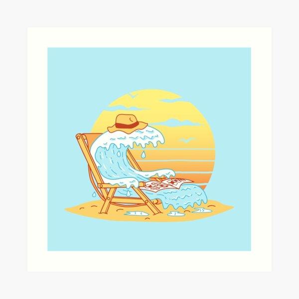 WAVE ON THE BEACH Art Print
