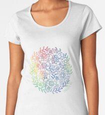 Rainbow Flowers Women's Premium T-Shirt
