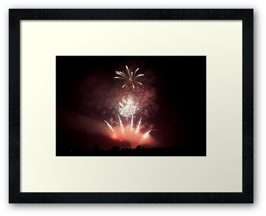 Firework Triple Burst Framed Print