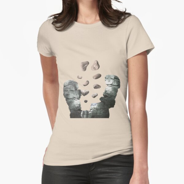 Silver Canyon (Lite) - ohms' Custom Worms Armageddon Level Fitted T-Shirt