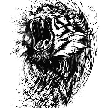 Lion Head-Lion Water Art by wrightboy62