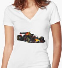 Formula 1 - Verstappen  Women's Fitted V-Neck T-Shirt