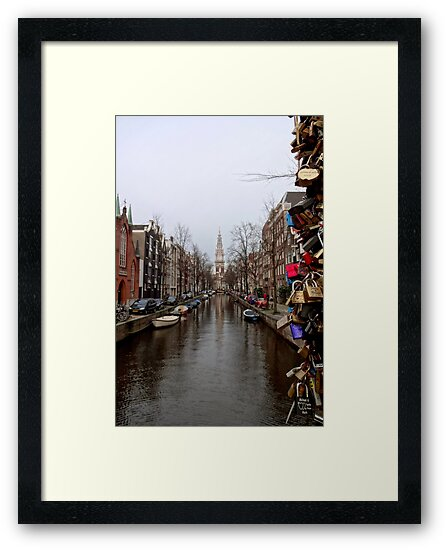 Amsterdam Locks Framed Print