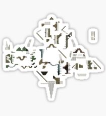 Ziggurat Vertigo Megamap - ohms' Custom Worms Armageddon Level Sticker
