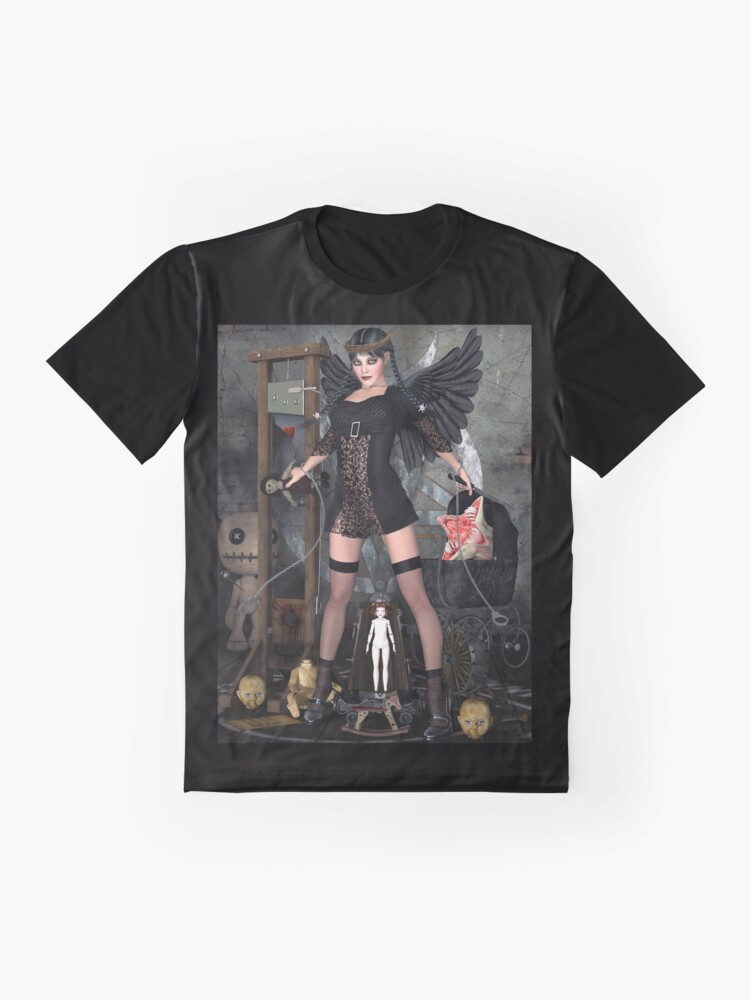 Alternate view of Wednesday Addams Fallen Witch Angel Graphic T-Shirt