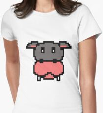 Pixel Video Game Hippopotamus Gaming 16 bit graphic Women's Fitted T-Shirt