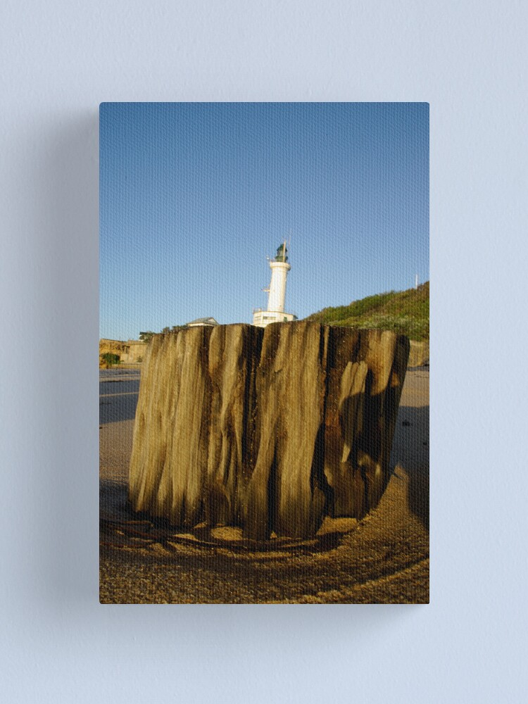 Alternate view of Leaning Lonny Lighthouse Canvas Print