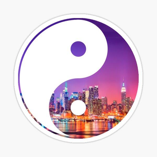 New york yin yang Sticker