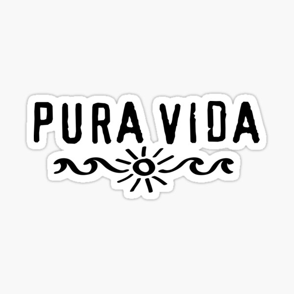 Pura Vida Sun Waves Surf Sticker