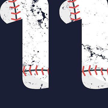 11 Birthday Baseball Vintage Number #11 by melsens
