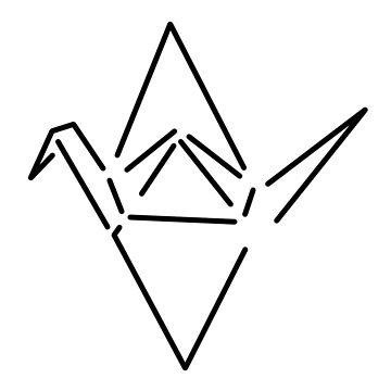 Origami crane by rainbowcho