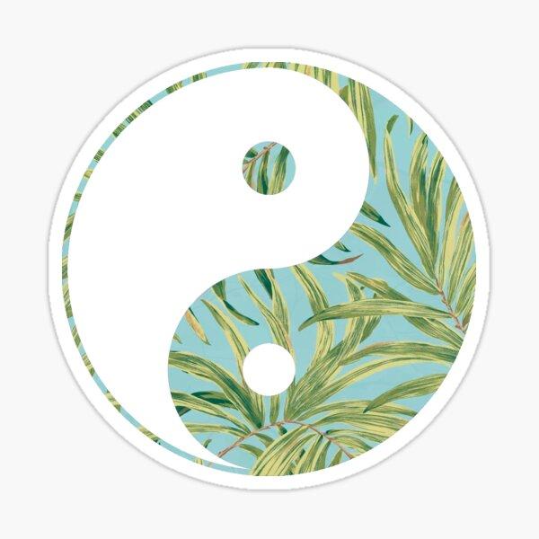 Leaves yin yang Sticker
