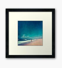Summer Days - Going Surfing Framed Print