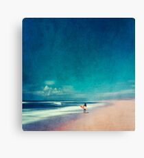 Summer Days - Going Surfing Canvas Print