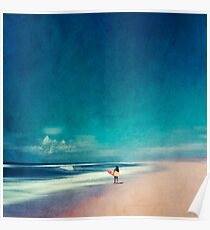 Sommertage - Surfen gehen Poster
