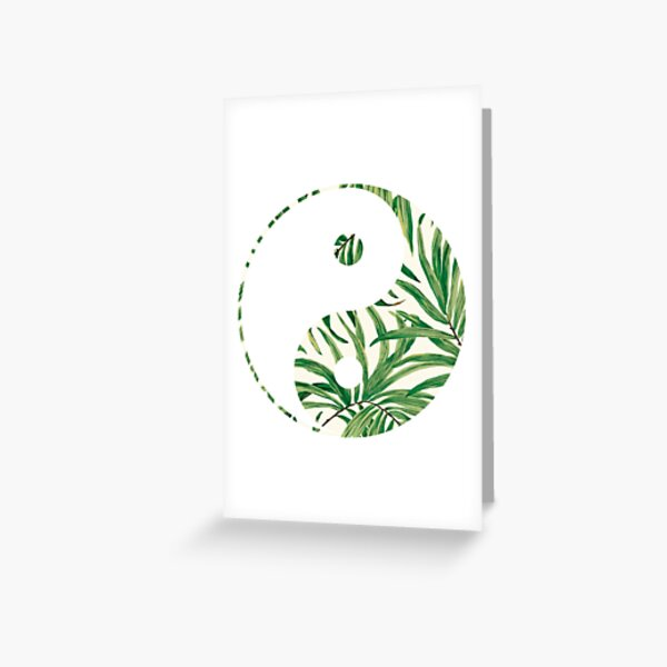 leaves yin yang  Greeting Card