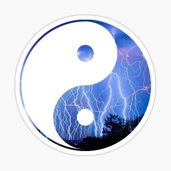 lightning yin yang Sticker