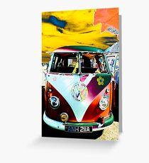 Happy hippy van Greeting Card
