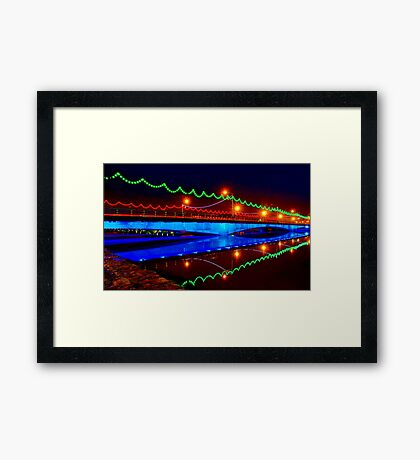 Ferdowsi Bridge - Isfahan - Iran Framed Print