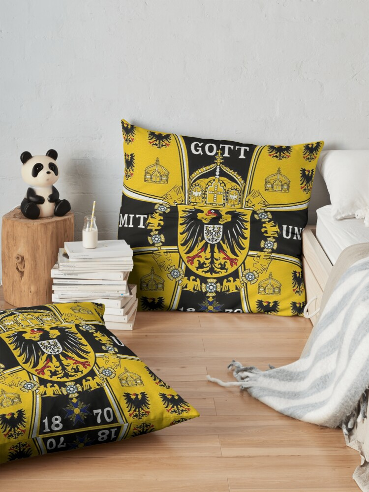 Alternate view of Prussian Battle Flag of 1870  Floor Pillow