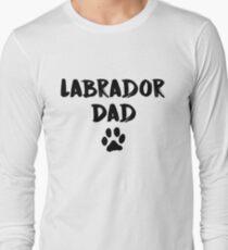 Camiseta de manga larga Labrador Dad