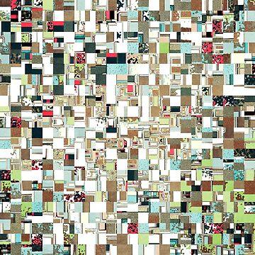 Geometric Textured Jumble by perkinsdesigns