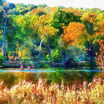 Autumn River Bank by ShannathShima