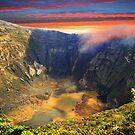 Irazu Volcano Crater - Costa Rica III by Al Bourassa