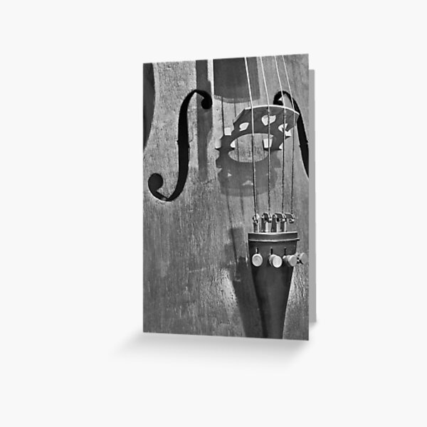 The Infernal Cello. Greeting Card