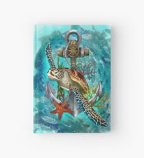Turtle and Sea Hardcover Journal
