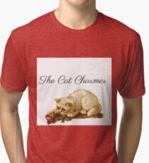 Camiseta de tejido mixto El gato encantador