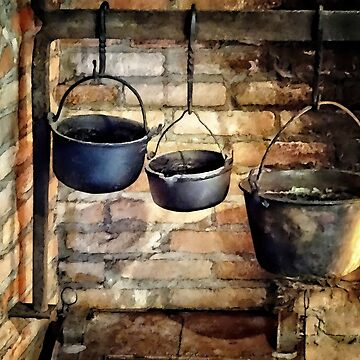 Three Pots in Colonial Kitchen by SudaP0408