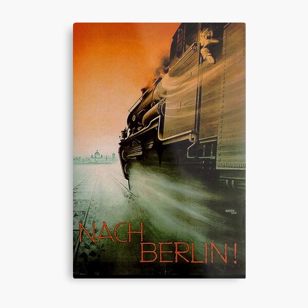 """To Berlin! "" 1926 Poster Metal Print"