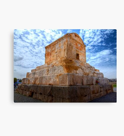 The Tomb of Cyrus The Great - Iran Canvas Print