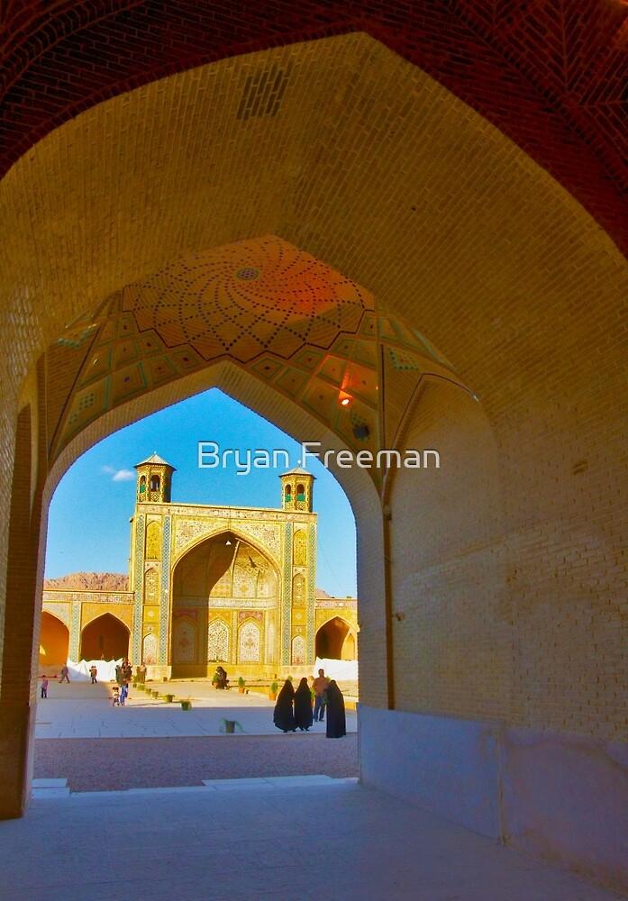 Through The Arches - Vakil Mosque - Shiraz - Iran by Bryan Freeman
