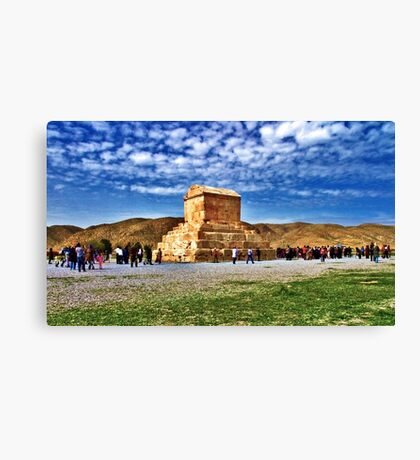 The Tomb of Cyrus The Great - Distance Canvas Print