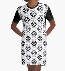 Sonne und Mond Crop Circles - von Aliens gemacht T-Shirt Kleid