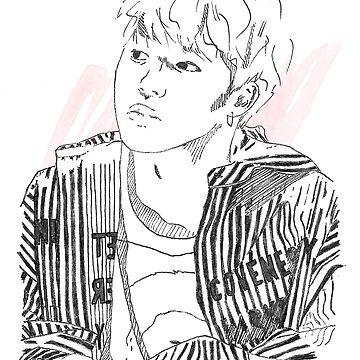 BTS - Jimin Sketch #1 by CinderTrack