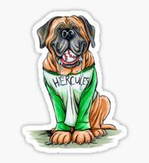 Pegatina Hércules el perro