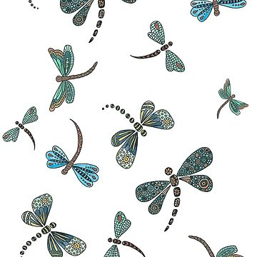 Swarm of dragonflies by Azyrielle