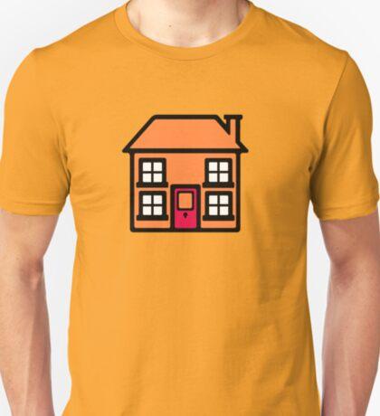 Retro TV Play School house logo graphic T-Shirt