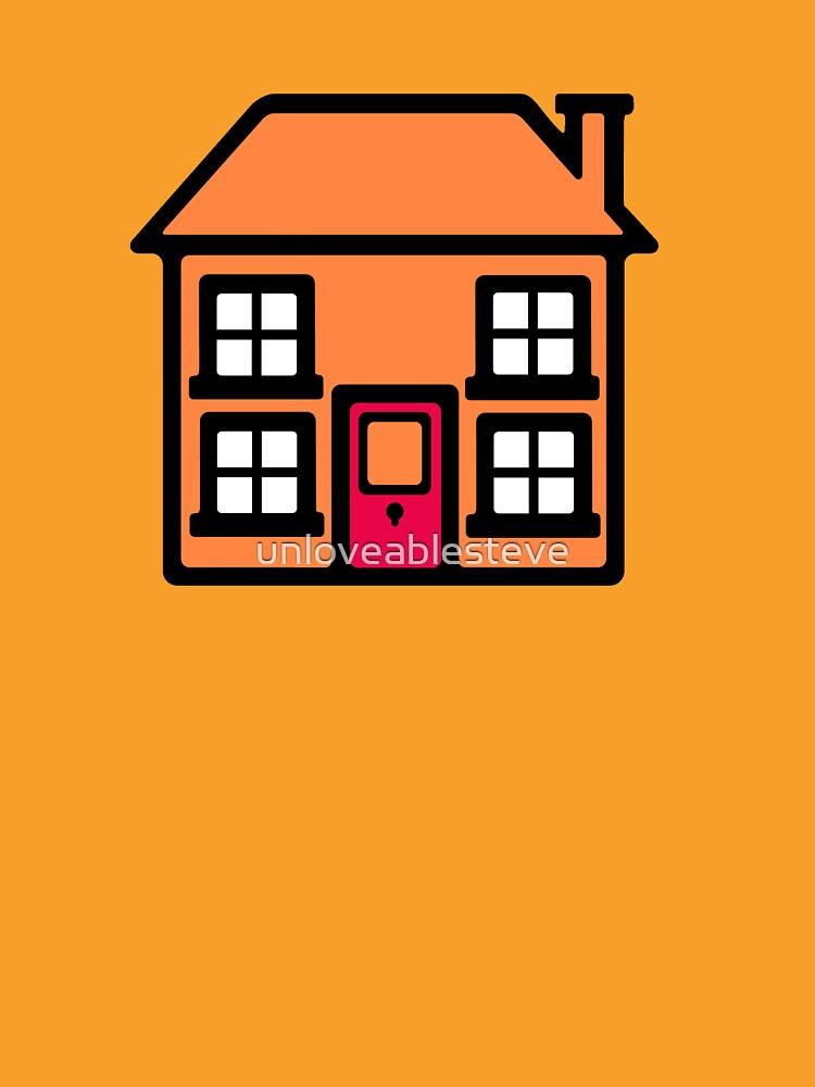 Retro TV Play School house logo graphic by unloveablesteve