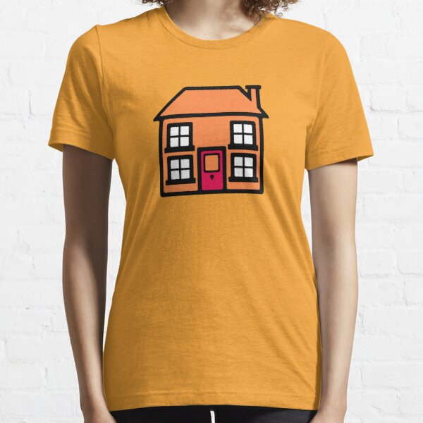 Retro TV Play School house logo graphic Essential T-Shirt